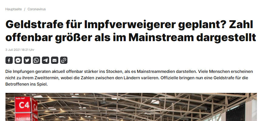 RT-Deutsch Geldstrafe für Impfverweigerer